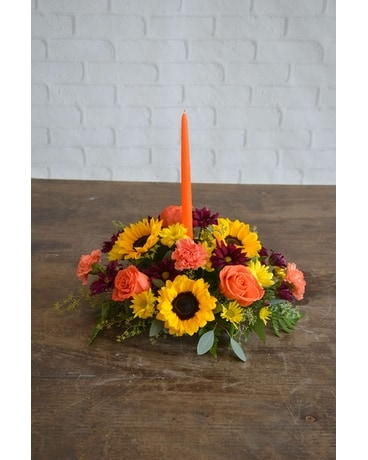 Autumn Brights Centerpiece Flower Arrangement