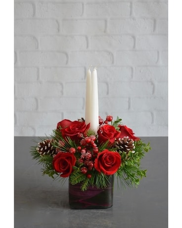 Home for the Holidays Centerpiece Flower Arrangement