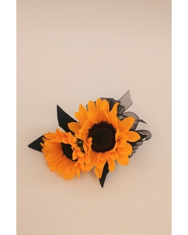 Corsages boutonnieres in raleigh nc fallons flowers sunflower corsage mightylinksfo