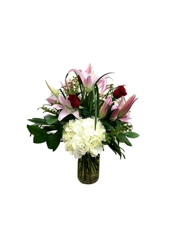 Lilies & Roses Flower Arrangement