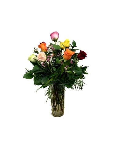 Assorted Rose Arrangement Flower Arrangement