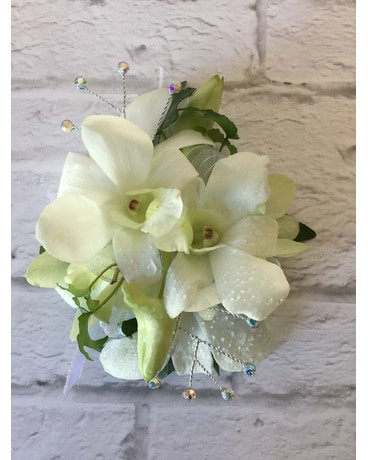 White Orchid Wristlet Corsage