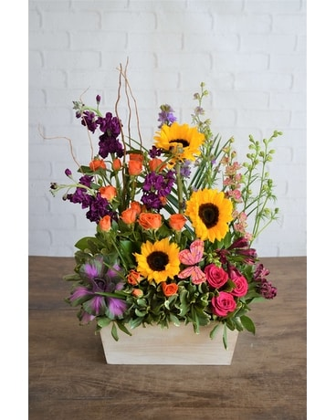 Sunny Meadow Flower Arrangement