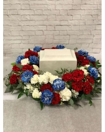 Veterans Tribute - Cremation Wreath Flower Arrangement
