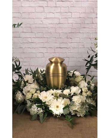 Serenity Cremation Wreath Flower Arrangement