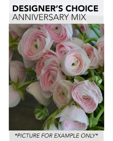 Designer's Choice - Anniversary Mix Flower Arrangement