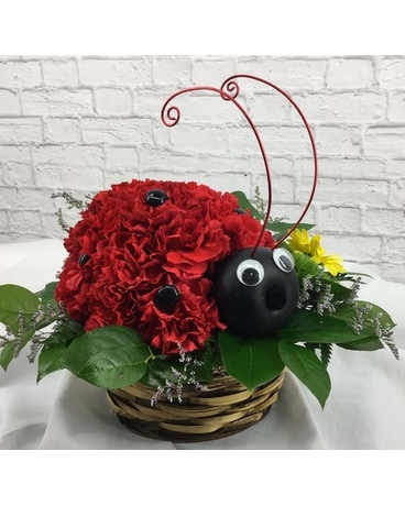 Lucky Lady Bug Flower Arrangement