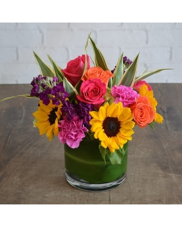 Brilliant Hues Flower Arrangement
