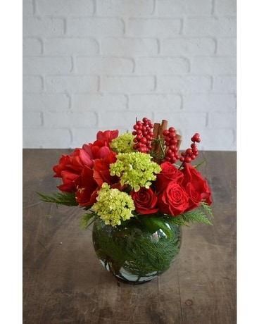 Scarlet Cinnamon Flower Arrangement