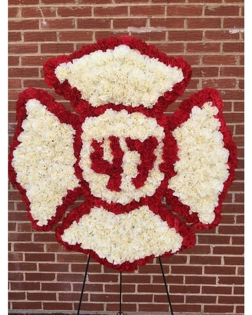 Fireman Cross Funeral Arrangement