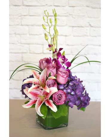Purples in Paris Flower Arrangement