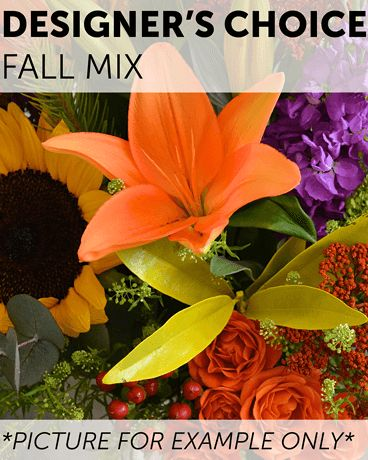 Designer's Choice - Fall Mix Flower Arrangement