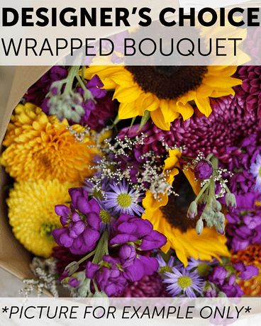 Designer's Choice - Wrapped Bouquet Flower Arrangement