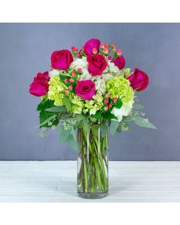 Berry Rosey Flower Arrangement