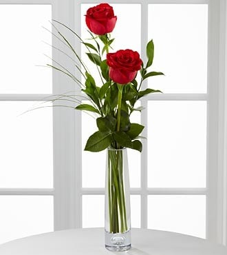 Double Rose Bud Vase