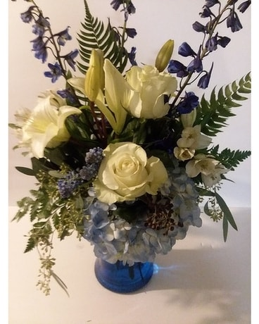Never Blue When I'm With You Flower Arrangement