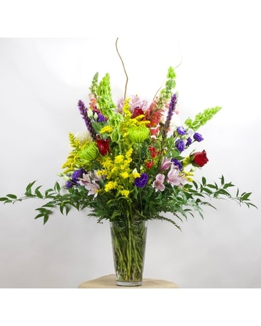 Gushing Glamour Flower Arrangement