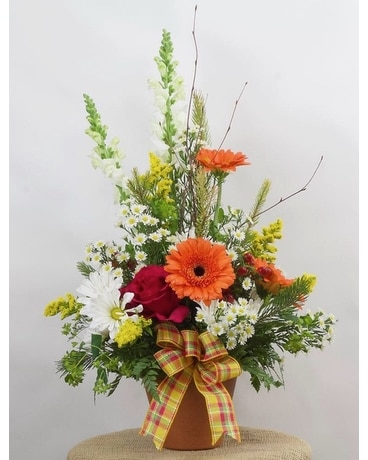 Terra-cotta Treasures Flower Arrangement