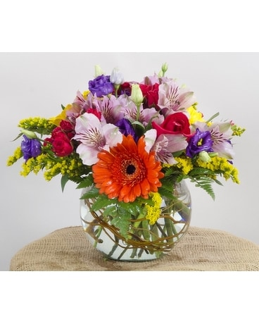 Luscious Bowl Flower Arrangement