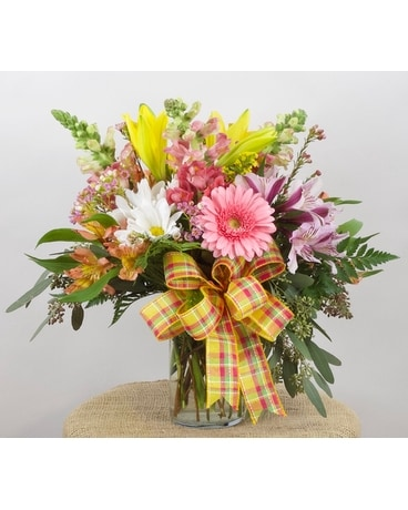 Pinks and Oranges Flower Arrangement