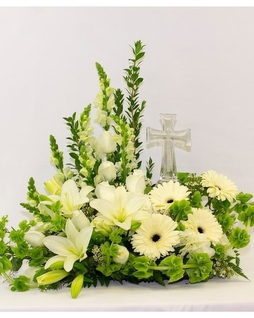 Remembrance Cross Flower Arrangement