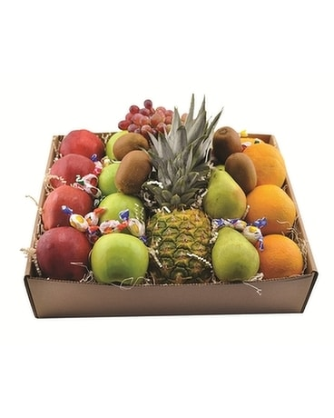 Fruit Box Flower Arrangement