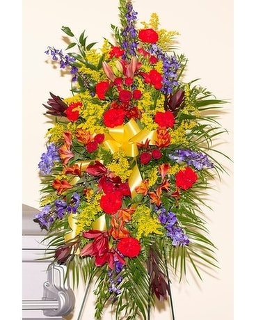 Colors of the Wind Sympathy Spray Flower Arrangement