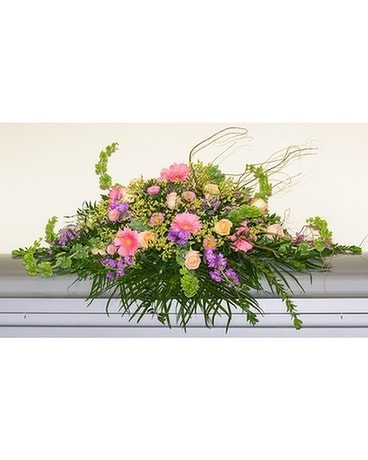 Caring Prayers Full Casket Cover Flower Arrangement