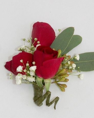 Boutonniere Spray, Red Flower Arrangement