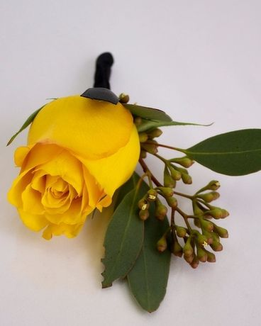 Boutonniere Rose, Yellow Flower Arrangement