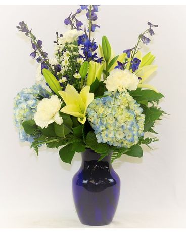 Deep Seas Flower Arrangement