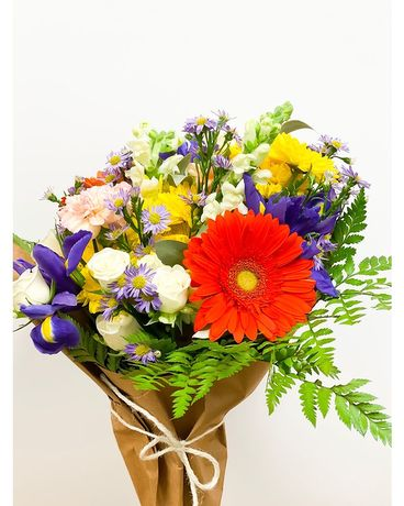 Mixed Graduation Wrapped Blooms Flower Arrangement