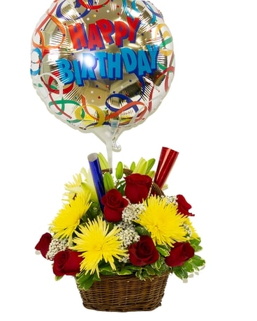 Birthday Party Bouquet Flower Arrangement