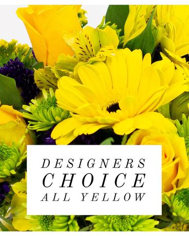 Designer's Choice Yellow Blooms Flower Arrangement