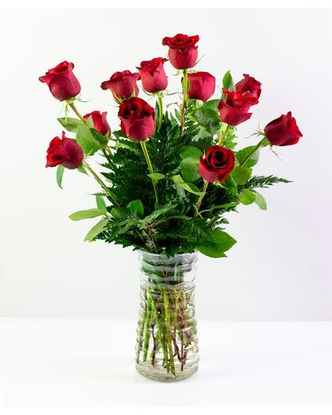 Summer Red Roses Flower Arrangement