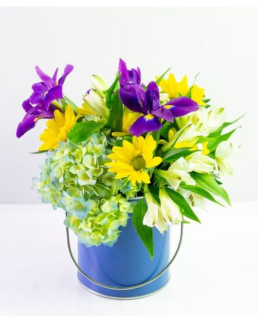 Blue & Yellow Delight Flower Arrangement