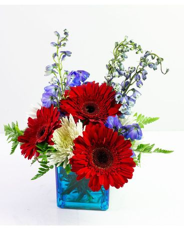 Celebrating the Red, White, and Blue Flower Arrangement