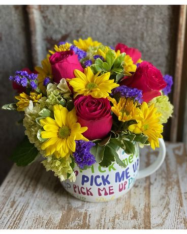 Pick Me Up Mug Flower Arrangement