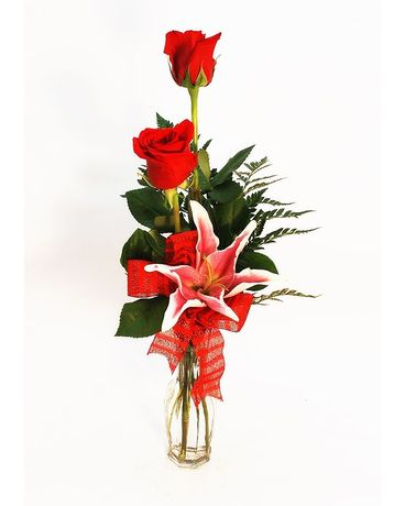 Simply Beautiful Budvase Flower Arrangement