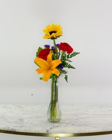 Bright Days Budvase Flower Arrangement