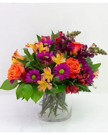 Autumn Magic Cylinder Flower Arrangement