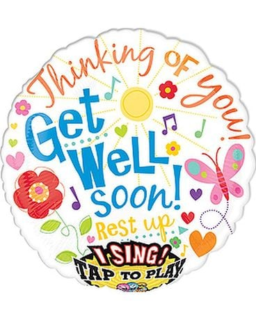 Get Well Singing Balloon Gifts