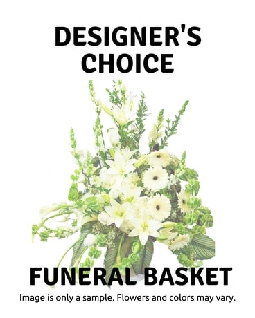 Designer's Choice Funeral Basket Funeral Arrangement