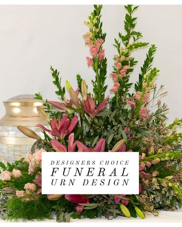 Designer's Choice Cremation Urn Design Funeral Arrangement