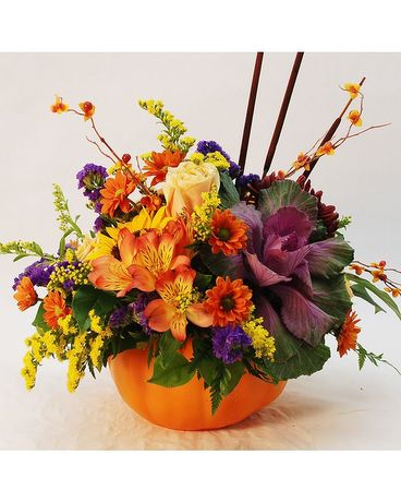 Bountiful Beauty Pumpkin Flower Arrangement