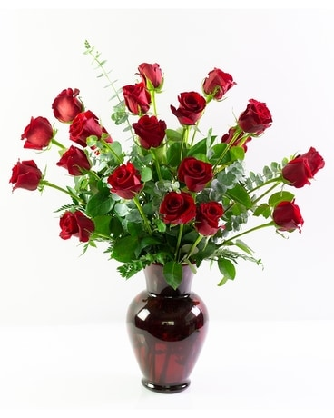 Two Dozen Ruby Roses Flower Arrangement