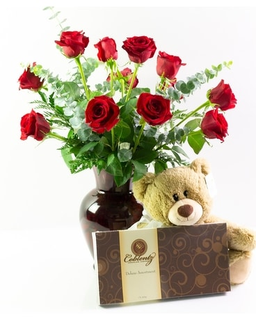 All My Love Gift Ensemble Flower Arrangement