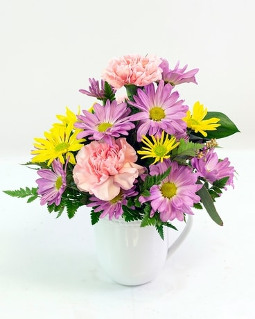 Mug of Daisies Flower Arrangement