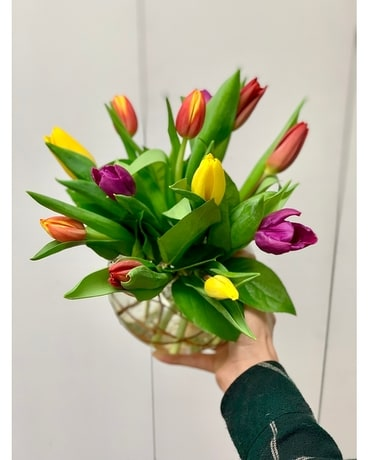Spring Bubble of Tulips Flower Arrangement
