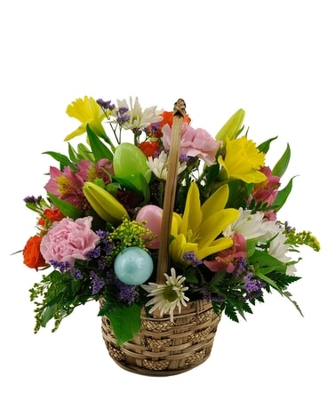 Spring Flower Basket Flower Arrangement